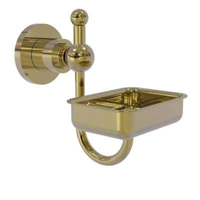 Astor Place Wall Mounted Soap Dish in Unlacquered Brass