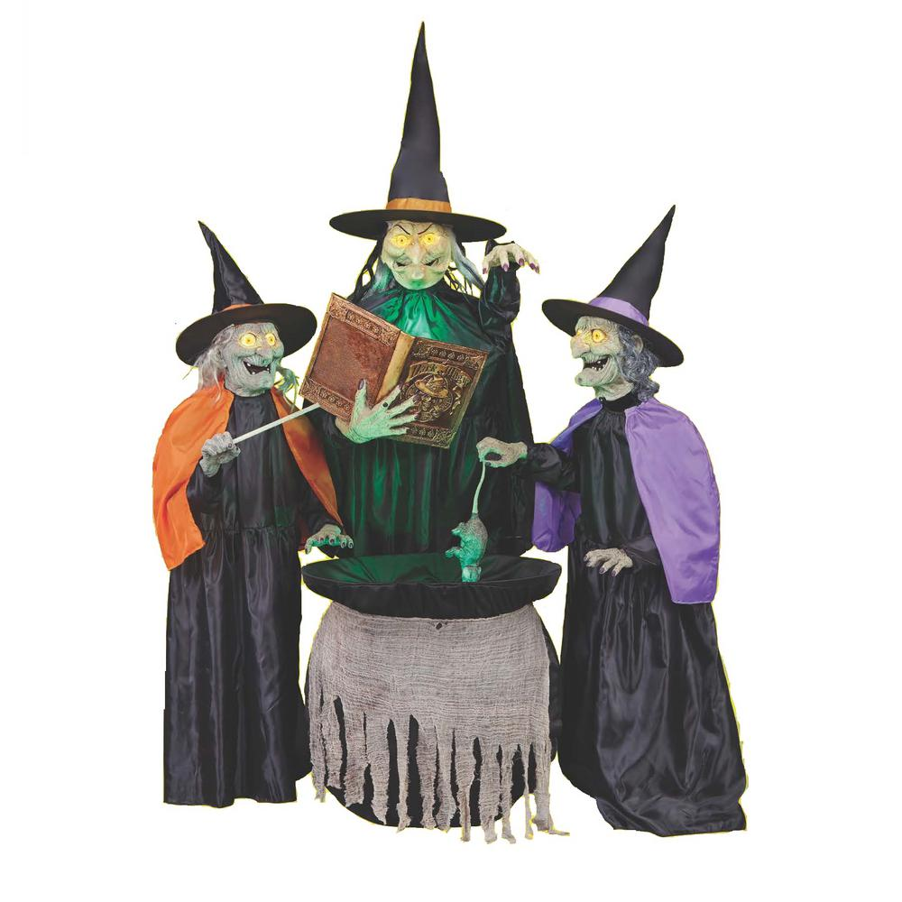 home accents holiday 75 in mischievous witch sisters 5124441