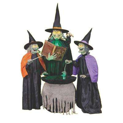 75 in. Mischievous Witch Sisters