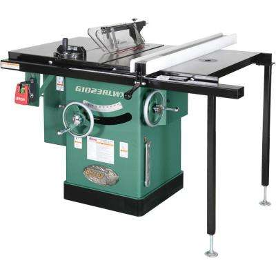 10 in. 5 HP 240-Volt Cabinet Left-Tilting Table Saw