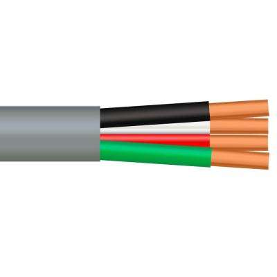 100 ft. 18/4 Solid Unshielded CMR/CL3R Gray Security Cable