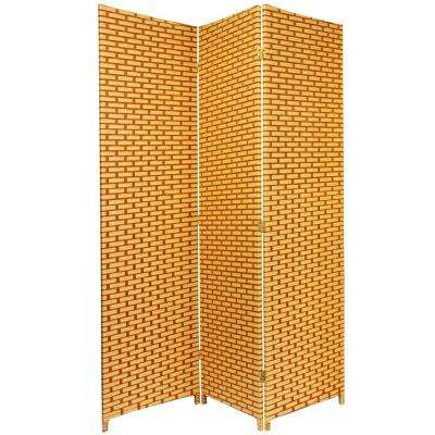 6 ft. Rust Woven Fiber 3-Panel Room Divider