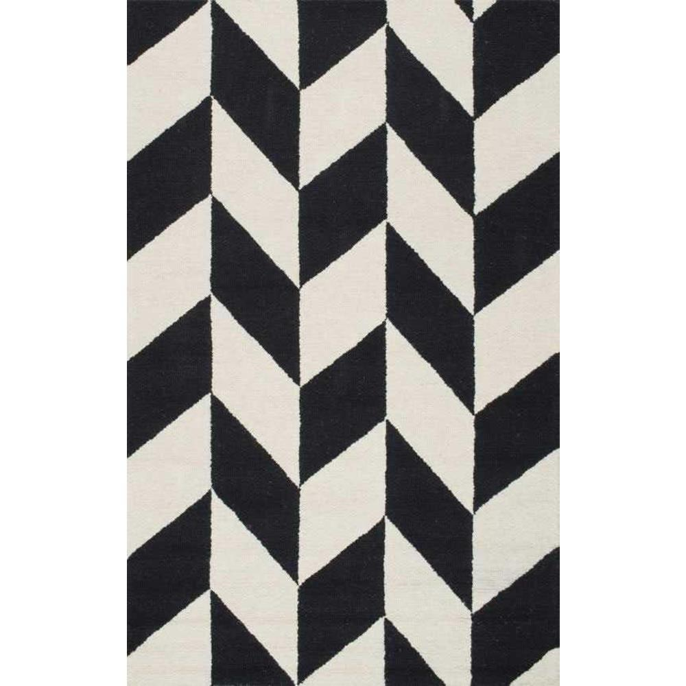 Black And White Floor Rug: NuLOOM Katte Black And White 4 Ft. X 6 Ft. Area Rug