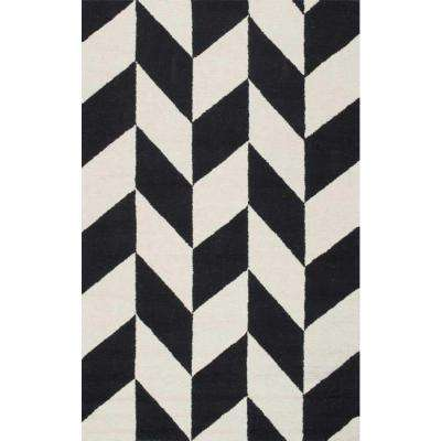 Katte Geometric Black White 8 Ft X 10 Area Rug