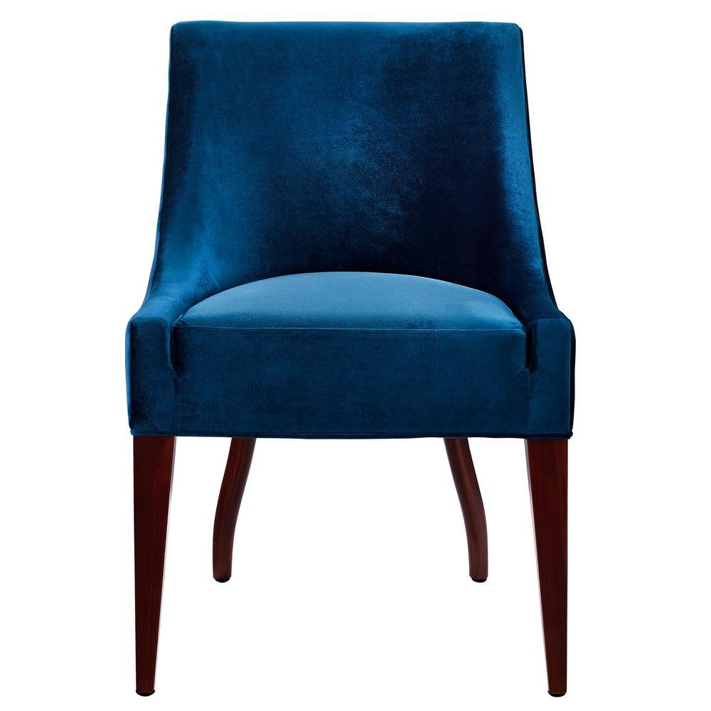 Dover Blue Velvet Chair