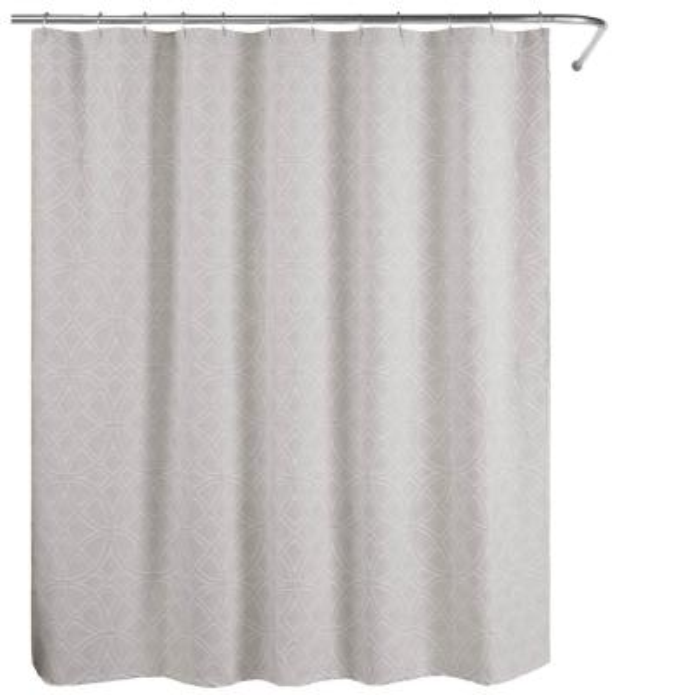 Bogart European Matelassé 72 in. Shower Curtain Grey