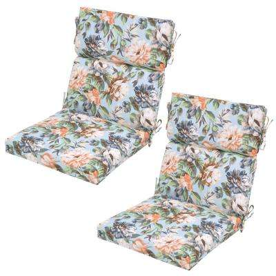 Floral No Additional Features Outdoor Dining Chair Cushions