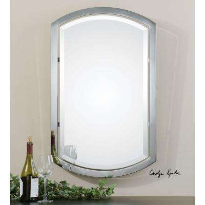 23 in. x 37 in. Polished Chrome Metal Framed Mirror