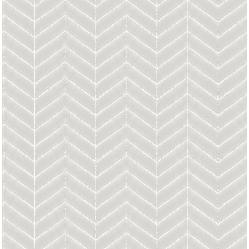 56.4 sq. ft. Bison Grey Herringbone Wallpaper