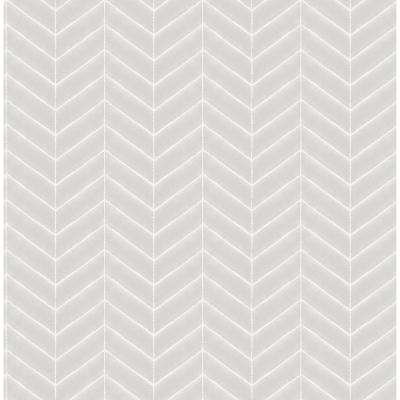 Bison Grey Herringbone Paper Strippable Roll (Covers 56.4 sq. ft.)