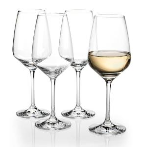 Click here to buy Villeroy & Boch Voice Basics 12 fl. oz. Crystal White Wine Glasses (4-Pack) by Villeroy & Boch.