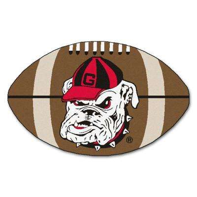 NCAA University of Georgia Bulldog Logo Brown 1 ft. 10 in. x 2 ft. 11 in. Specialty Accent Rug