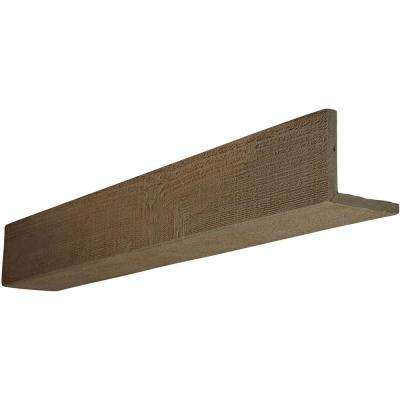 4 in. x 10 in. x 16 ft. 2-Sided (L-Beam) Rough Sawn Honey Dew Faux Wood Beam