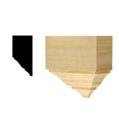 DM 358 7-21/64 in. x 7-1/2 in. x 7-1/2 in. Solid Pine Miterless Divider Block for Crown Moulding