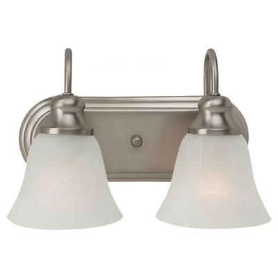 Windgate 2-Light Brushed Nickel Vanity Fixture