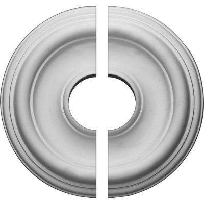 12 in. O.D. x 3-1/2 in. I.D. x 1 in. P Traditional Ceiling Medallion (2-Piece)