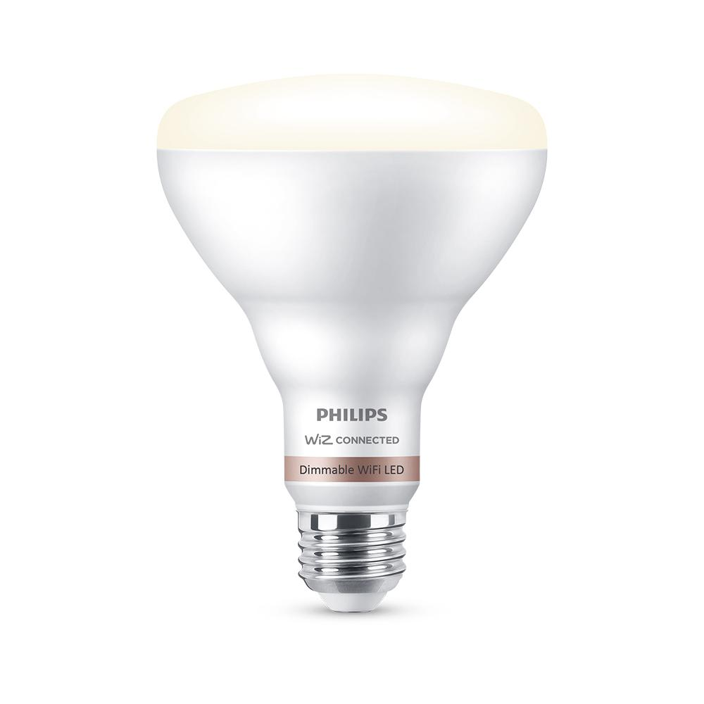 Philips Soft White BR30 LED 65W Equivalent Dimmable Smart Wi-Fi Wiz Connected Wireless Light Bulb