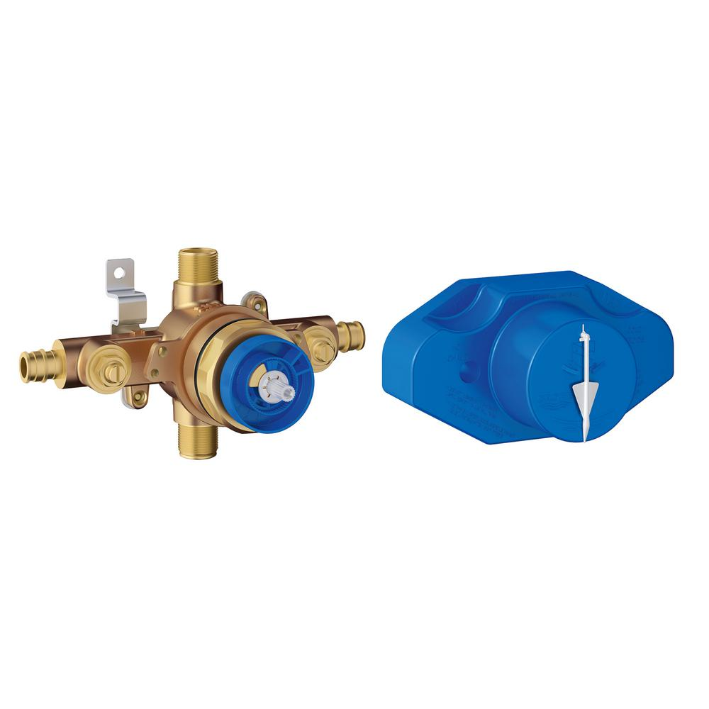 Grohe Grohsafe Universal Pressure Balance Rough In Valve In Copper 35066001 The Home Depot