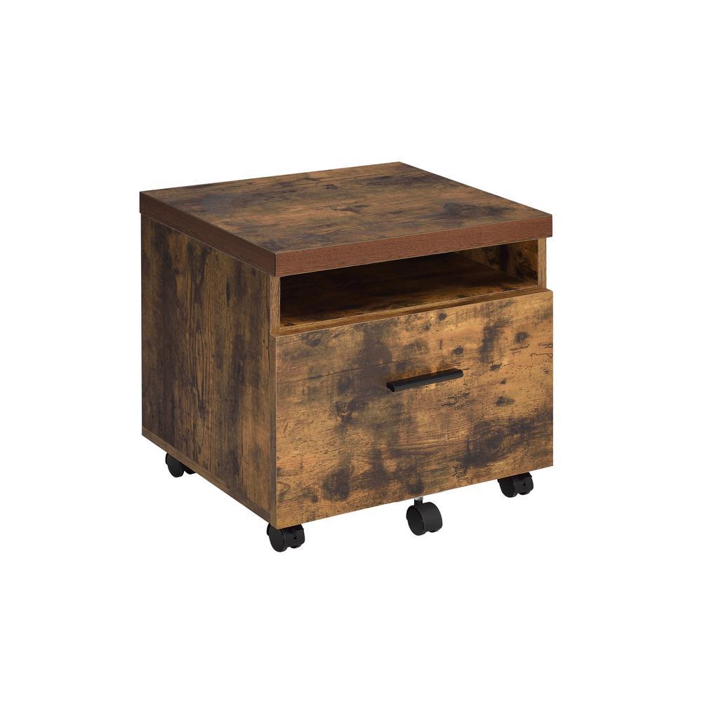 Bob Weathered Oak File Cabinet