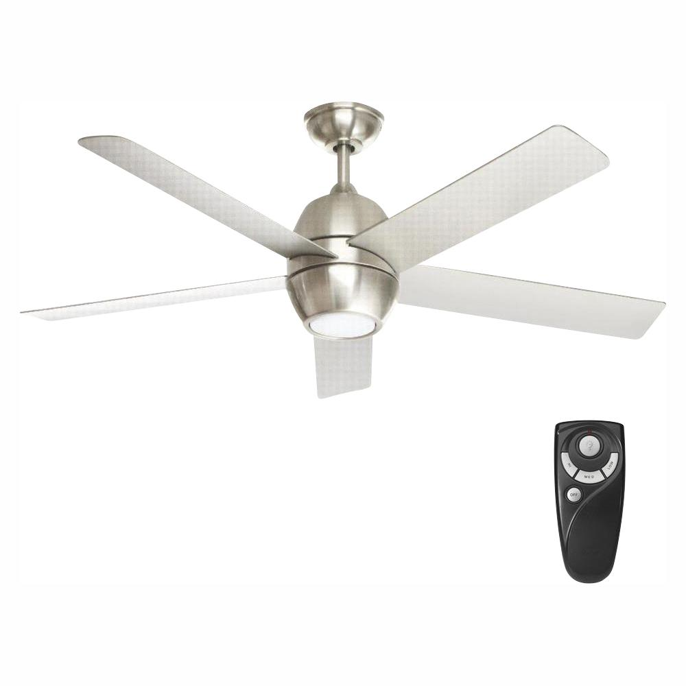 Home Decorators Collection Greco III 52 in. LED Indoor Brushed Nickel Ceiling Fan with Light Kit and Remote Control
