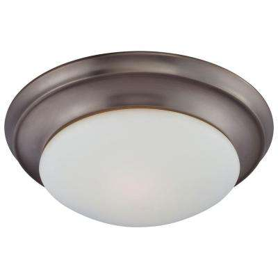 2-Light Oiled Bronze Ceiling Flushmount