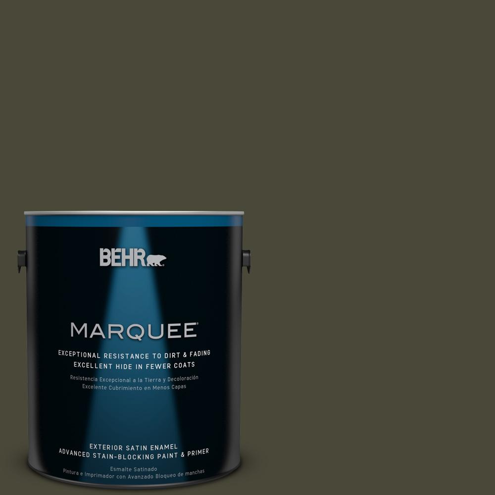 BEHR MARQUEE 1 gal. #T18-11 Unplugged Satin Enamel Exterior Paint