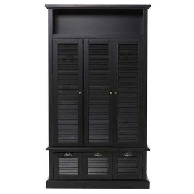 Shutter 42 in. W x 74 in. H x 17 in. D Triple Door Closed Locker Storage in Worn Black