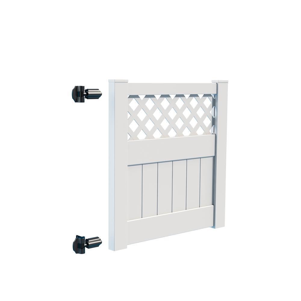 Carlsbad 4 ft. W x 4 ft. H White Vinyl Un-Assembled Fence Gate