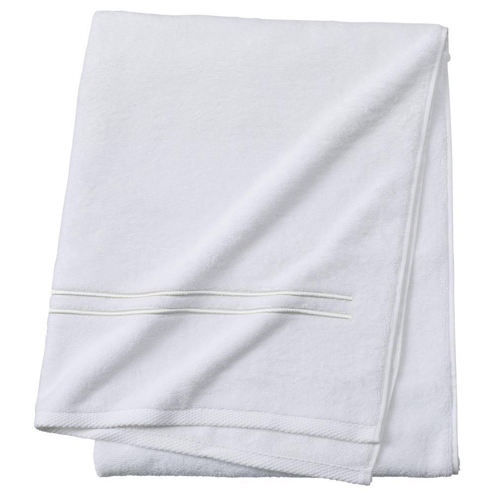 Sardis 1-Piece Bath Towel in Pearl