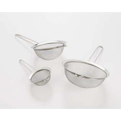 3-Piece Stainless Steel Mesh Strainer Set
