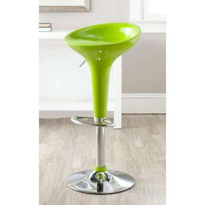 Sacha Adjustable Height Green Bar Stool. Lime ...