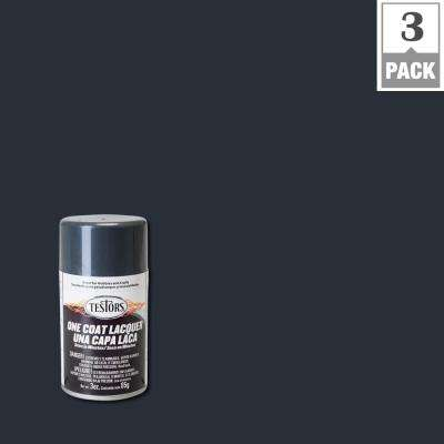 3 oz. Graphite Dust Lacquer Spray Paint (3-Pack)