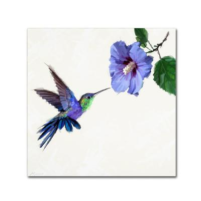 """14 in. x 14 in. """"Humming Bird"""" by The Macneil Studio Printed Canvas Wall Art"""