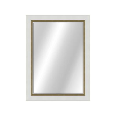 Two Toned 22 x 28 Value Core White/Gold Framed Vanity Mirror