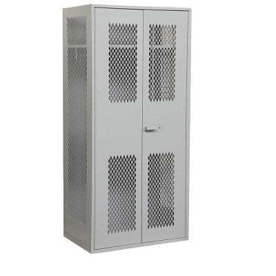 7150 Series 36 in. W x 78 in. H x 24 in. D Military TA-50 Storage Cabinet in Grey