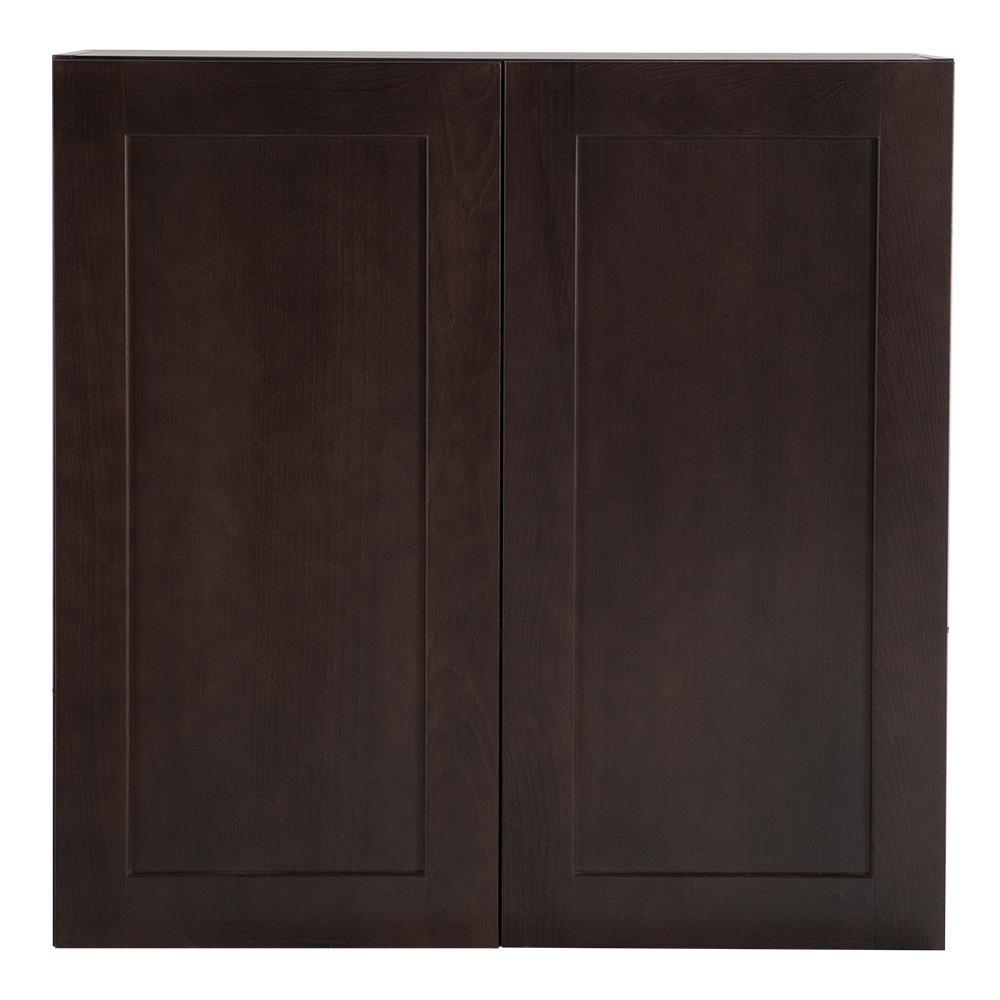 Wall Cabinet In Dusk: Hampton Bay Cambridge Assembled 30x30x12 In. Wall Cabinet