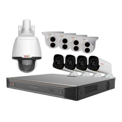 Ultra 16-Channel 4K 4TB Smart NVR Surveillance System with (10) 5MP Starlight Cameras and (1) 33x 1080p PTZ Camera
