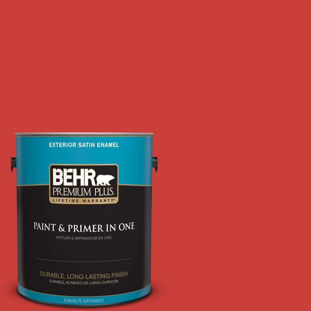 1 gal. #P170-7 100 Mph Satin Enamel Exterior Paint and Primer