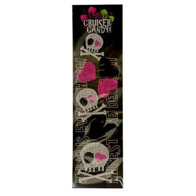 Bling Skulls and Hearts Bicycle Decals