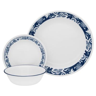 16-Piece Traditional True Blue Glass Dinnerware Set (Service for 4)