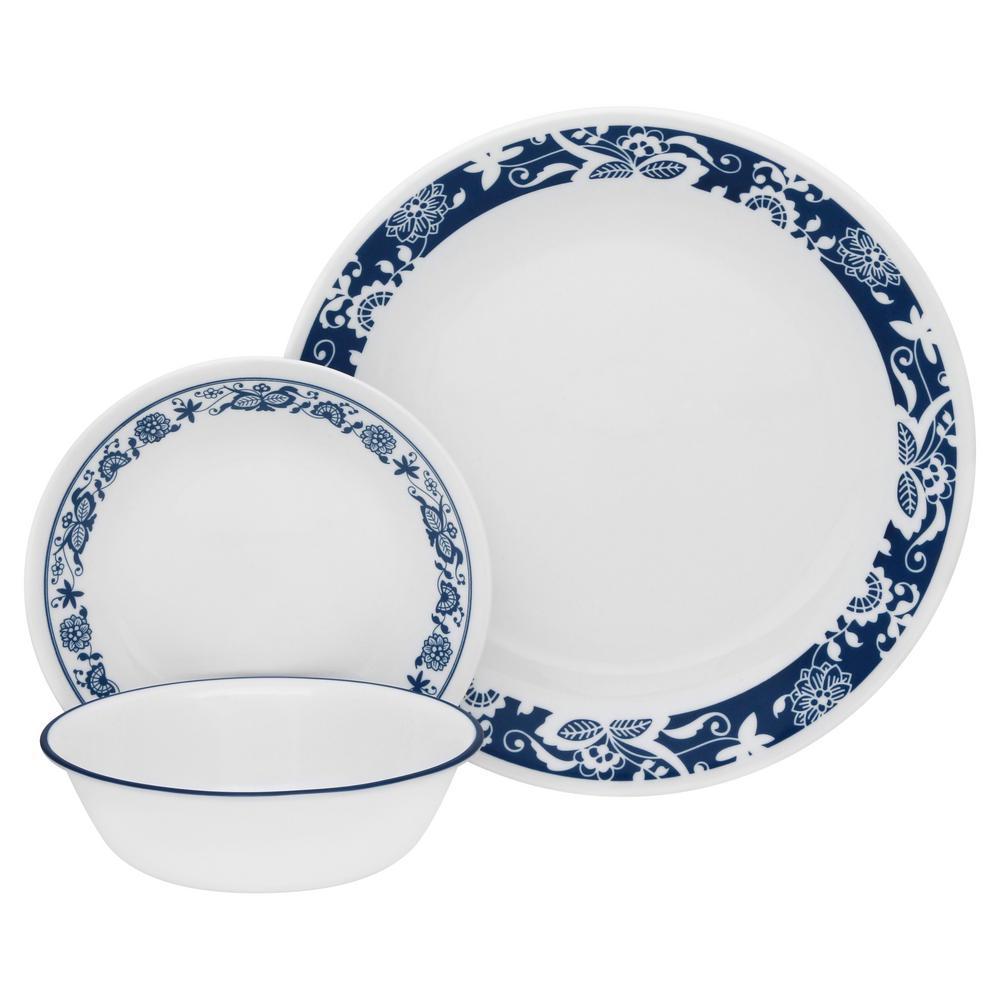 Classic 16-Piece True Blue Dinnerware Set