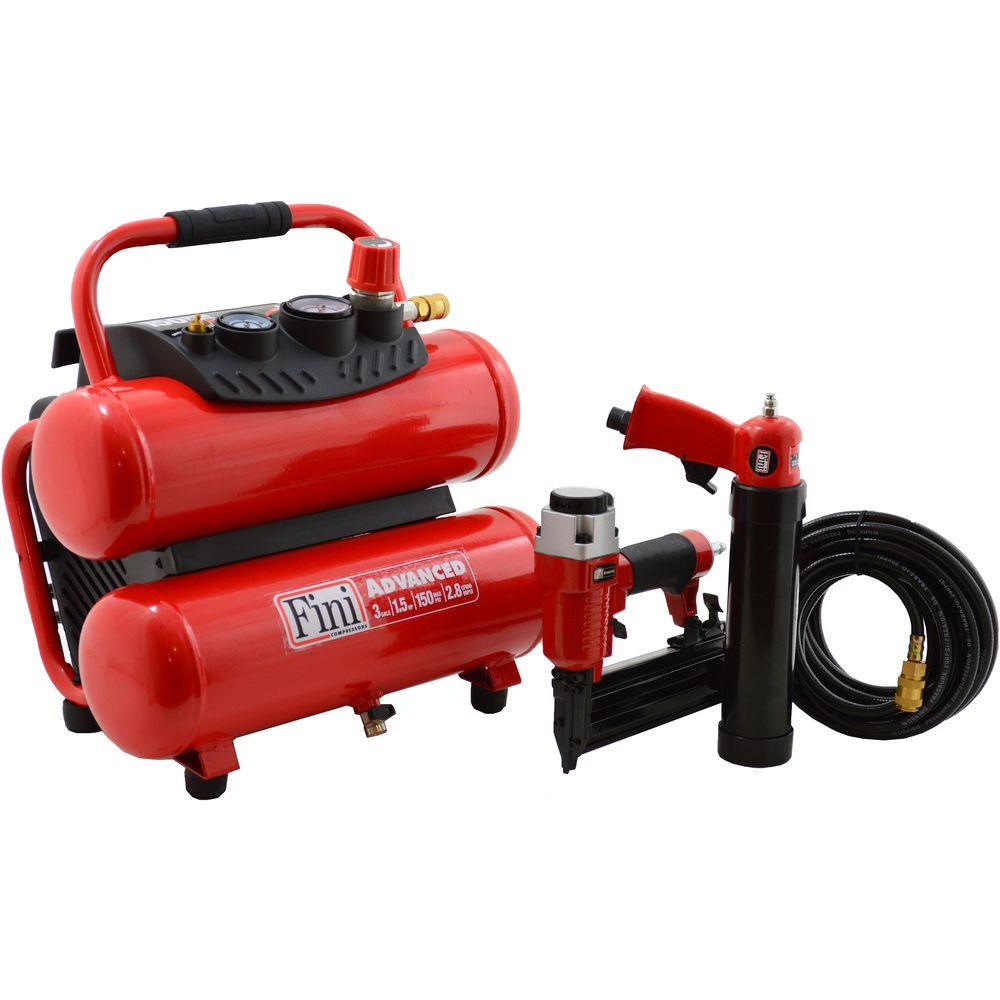 PRO-3 1.5 HP 3 Gal. 150 PSI Portable Electric Twin Stack