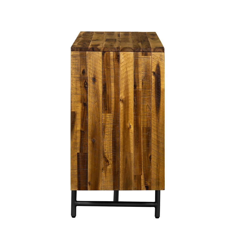 Armen Living Cusco 6 Drawer Rustic Acacia Dresser Lccudrac