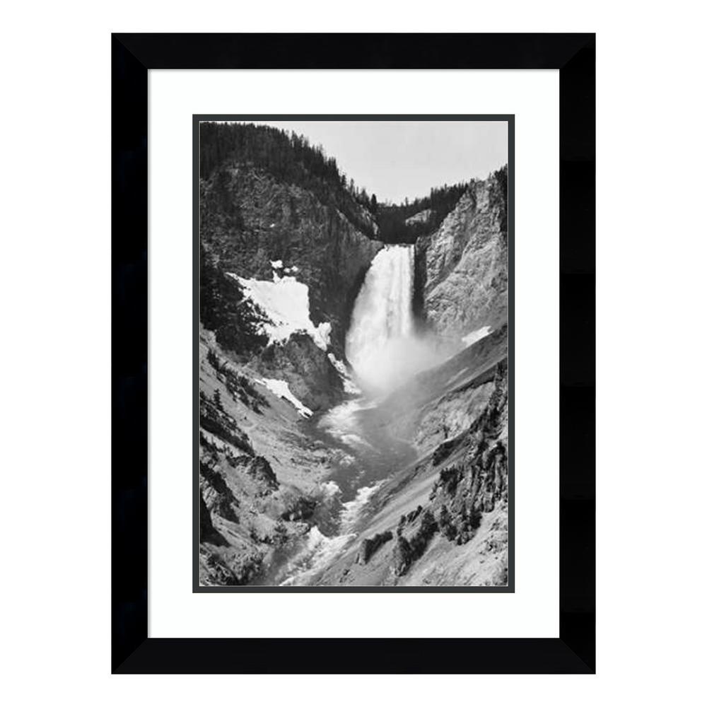 """Yellowstone Falls, Yellowstone National Park, Wyoming. ca. 1941-1942"" by Ansel Adams Framed Wall Art"