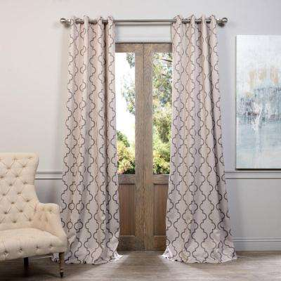 Semi-Opaque Seville Tan Grommet Blackout Curtain - 50 in. W x 84 in. L (Pair)