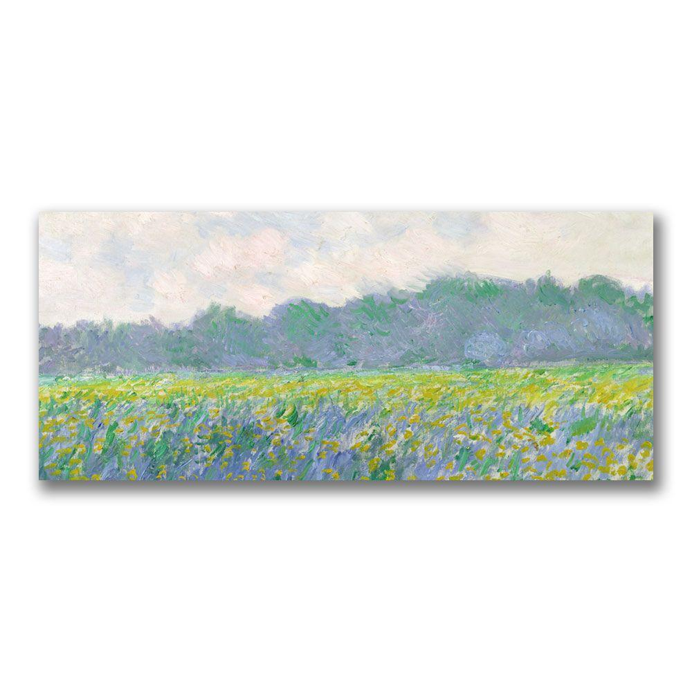 20 in. x 47 in. Field of Yellow Irises at Giverny