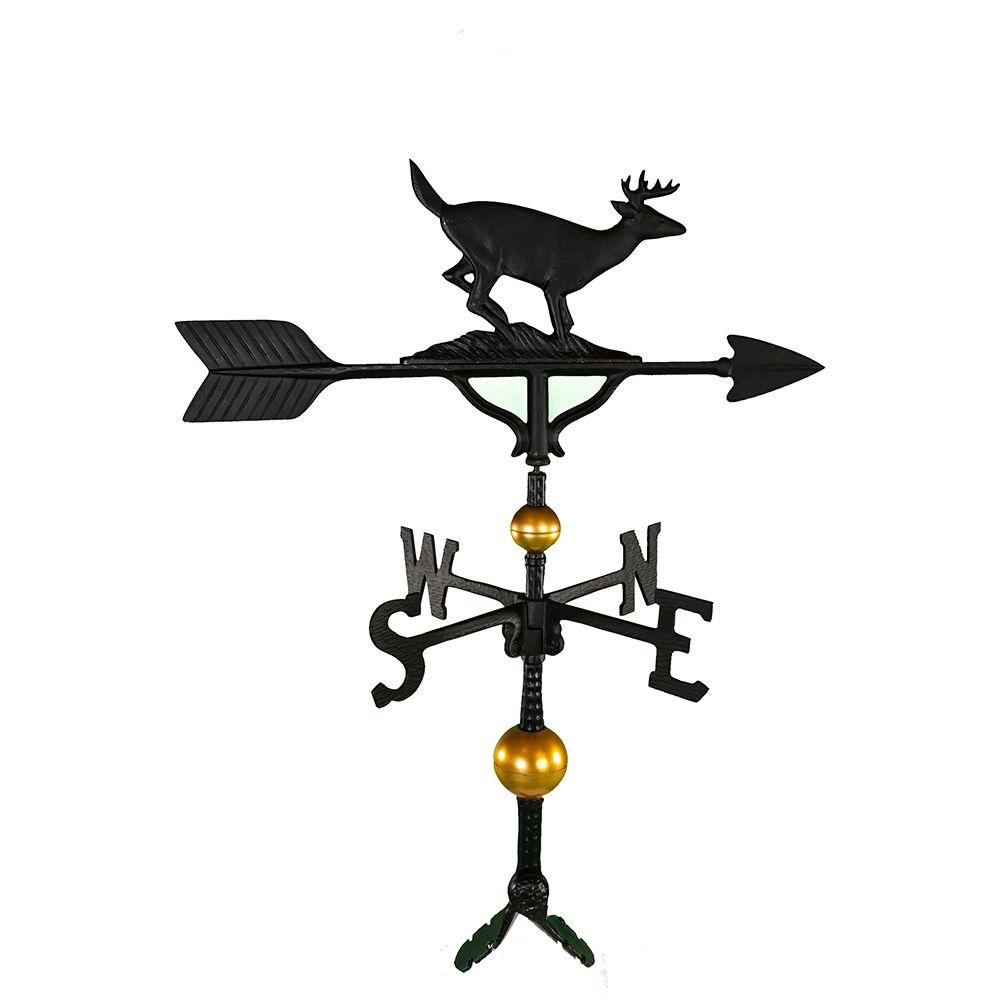 32 in. Deluxe Black Buck Weathervane