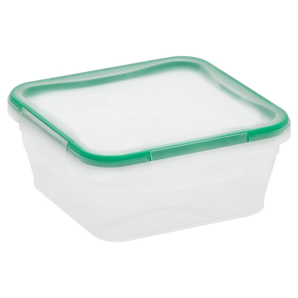 Total Solution Plastic Food Storage 5.35-Cup with Lid