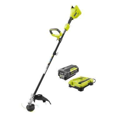 40-Volt Lithium-Ion Brushless Electric Cordless Attachment Capable String Trimmer - 3.0 Ah Battery and Charger Included