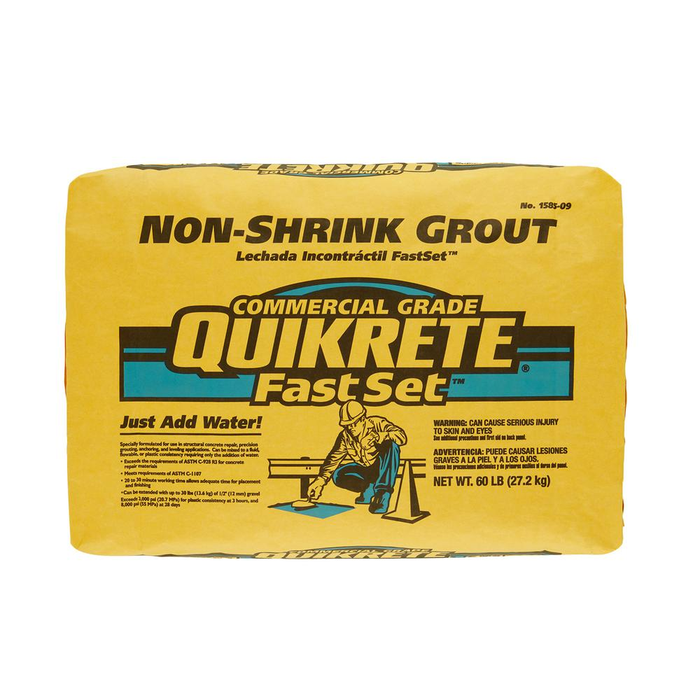 Quikrete 60 Lb Fastset Non Shrink Grout 158509 The Home